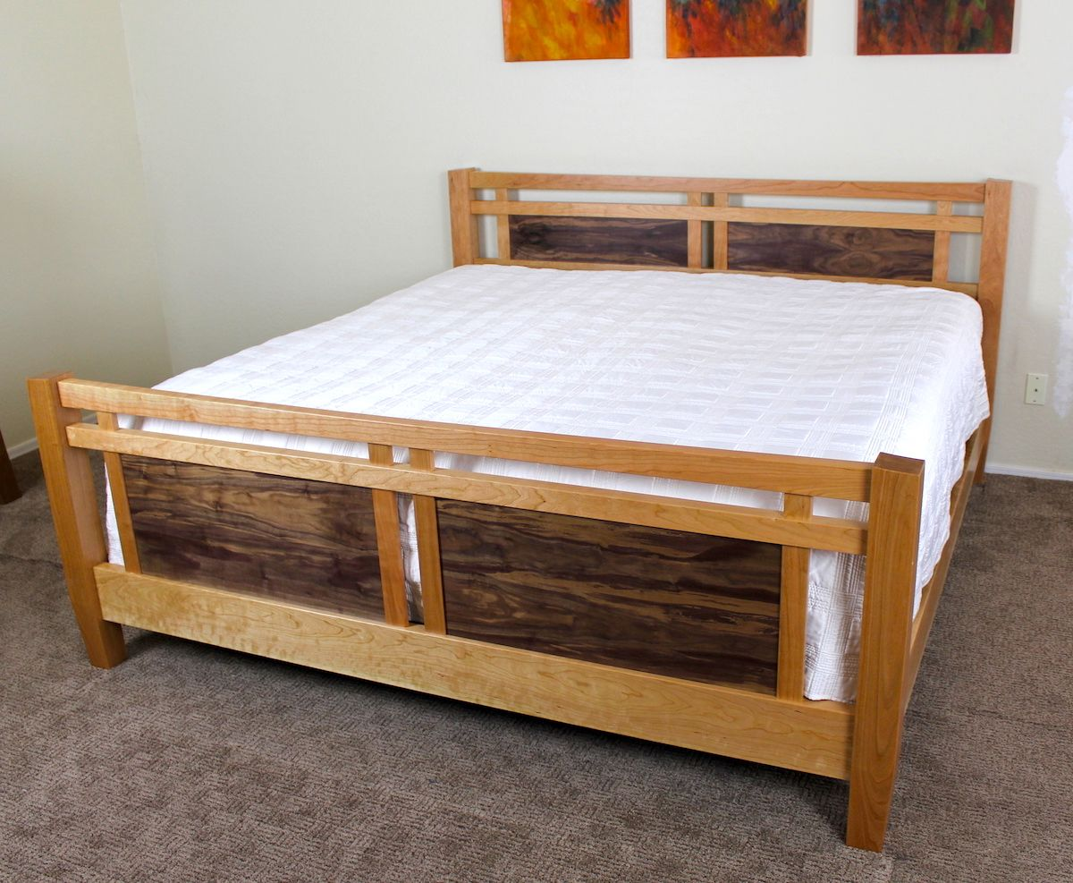 Beautiful Check Out This King Size Bed Project. Hand Built Furniture Lasts For Years  And Can
