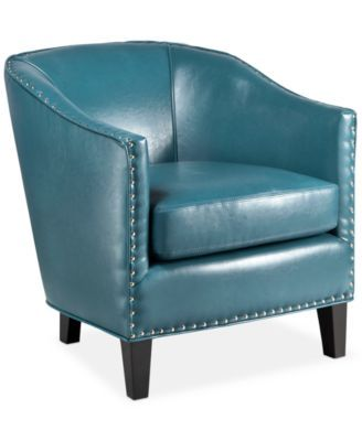 Josie Faux Leather Accent Chair Quick Ship Living Room
