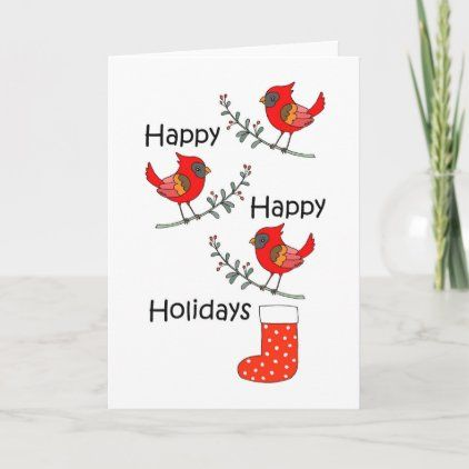 Cardinal Red Bird Funny Happy Holiday Christmas Card -   19 happy holiday Funny ideas