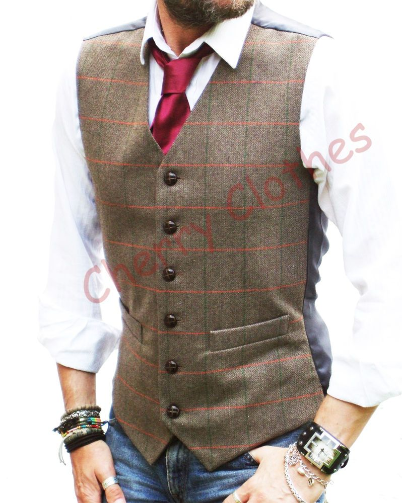 Lloyd Attree /& Smith Herringbone Tweed Waistcoat
