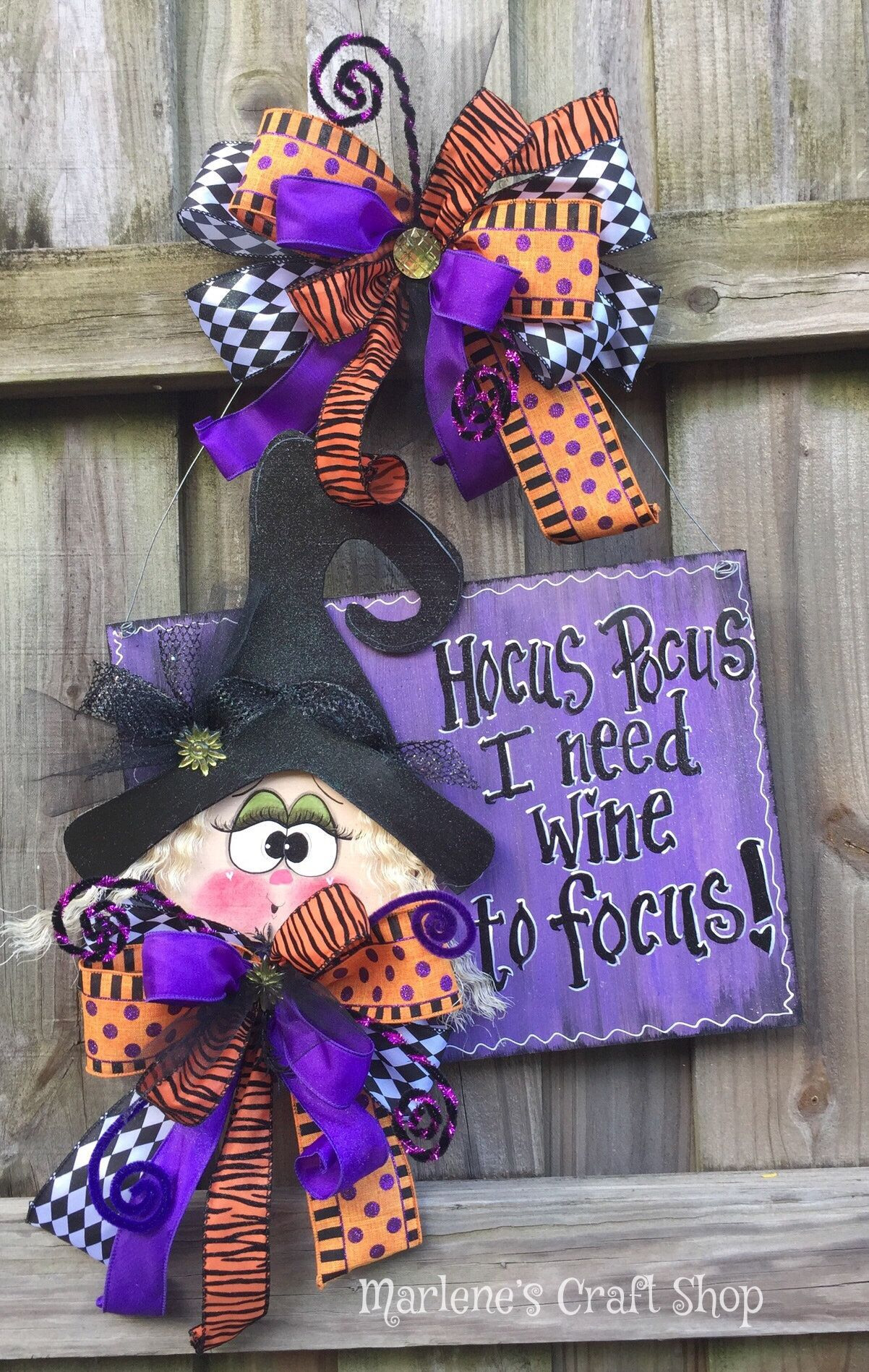 Halloween Witch Sign, Halloween Decor, Fall Decor, Witch Sign, Funny ...