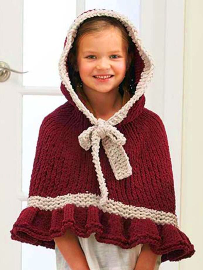 Free Knitting Pattern For Noel Cape This Knit Version Of The