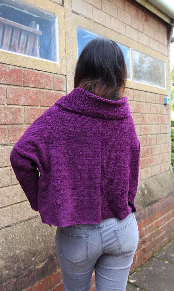 Callicarpa Crop Top Jumper Machine Knitting Pattern | Pinterest ...
