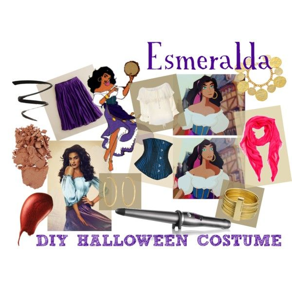 DIY Halloween Costume - Disneyu0027s Esmeralda  by cdgrant on Polyvore  sc 1 st  Pinterest & DIY Halloween Costume - Disneyu0027s Esmeralda   Pinterest   DIY ...