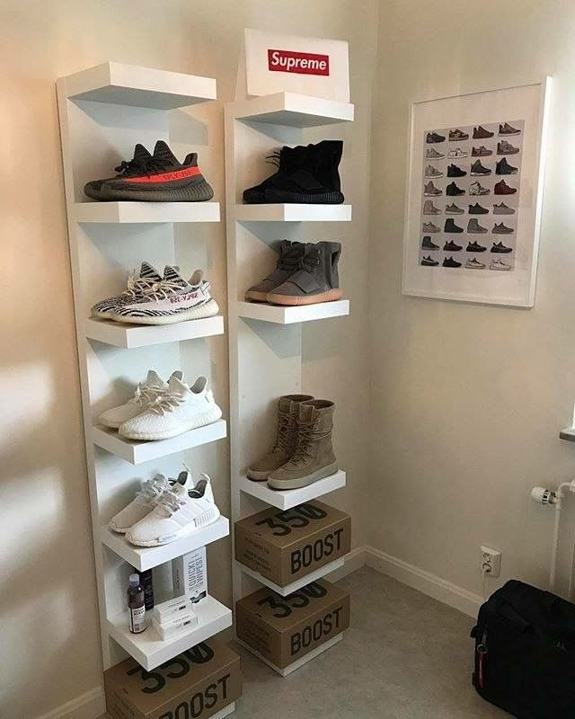 Bedroom Storage Yeezy Dressing Rooms Shoe Collection Dream Streetwear Hypebeast Game Supreme