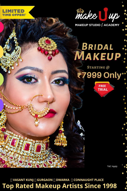 BRIDAL MAKEUP In STUDIO AT VENUE Makeup Artist Services