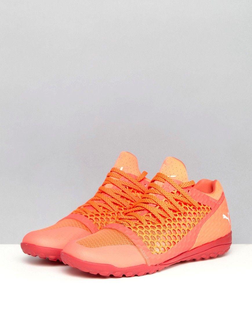 eef01e364344 Puma IGNITE 365 Netfit Astro Turf Soccer Boots In Orange 10447501 - Or