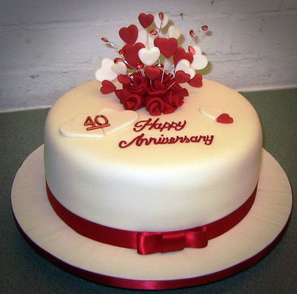 Cake Ideas For Wedding Anniversary: Sweets Wedding Anniversary Cake : Red Wedding Anniversary