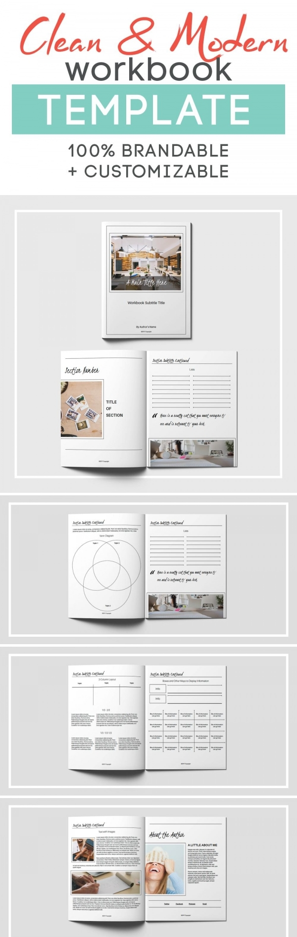 Clean Workbook Template Templates, Layout template