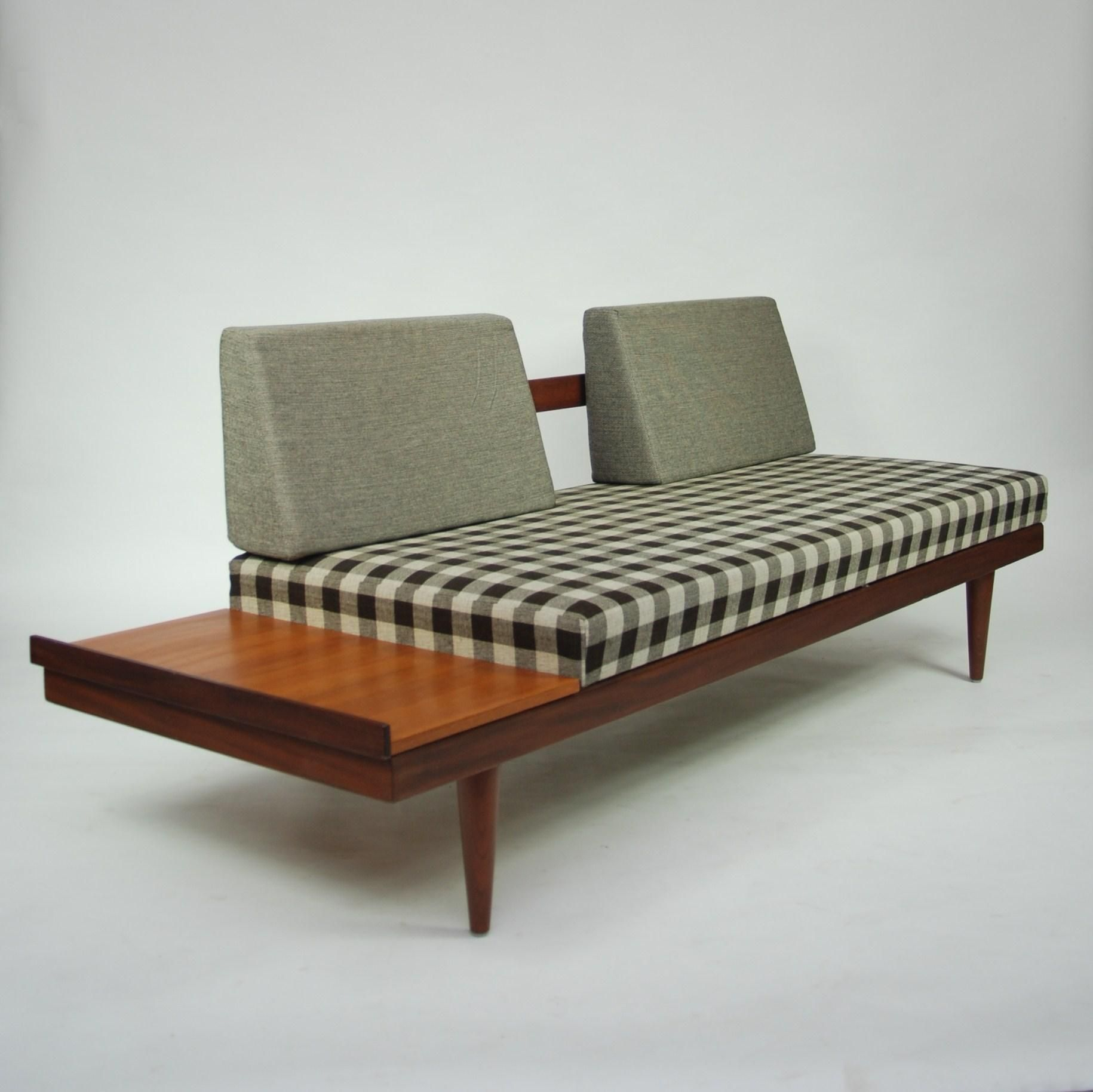 Vintage Cheap Furniture: Anonymous; Teak Daybed, 1960s.