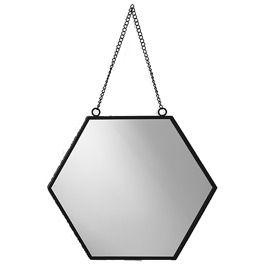 Miroir Hexagonal Noir 27 5 X 30 2 Cm Miroir Hexagonal Miroir Castorama Miroir