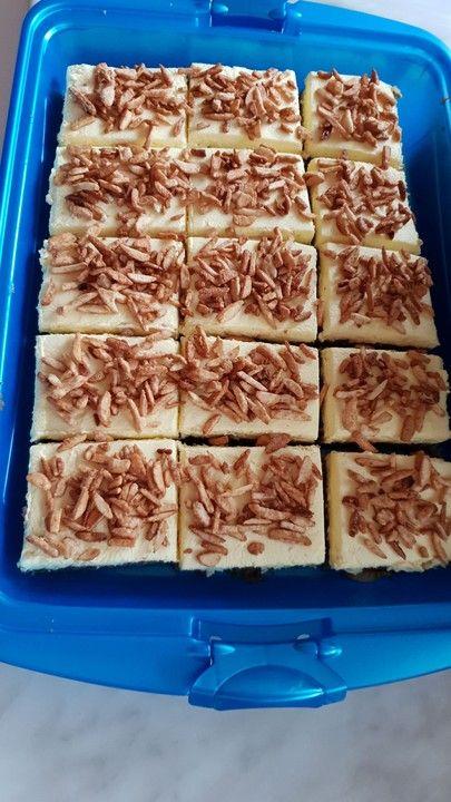 Blechkuchen Gebrannte Mandeln #gebranntemandeln