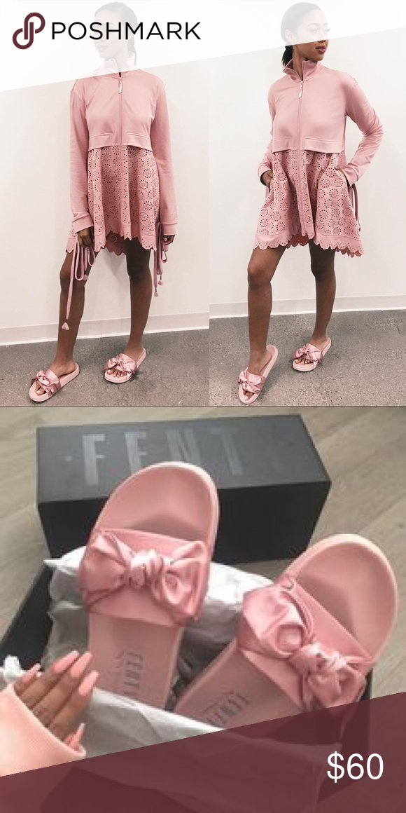 separation shoes f4e86 4b4d2 Rihanna Fenty silk slides All pink as shown in photos, never ...