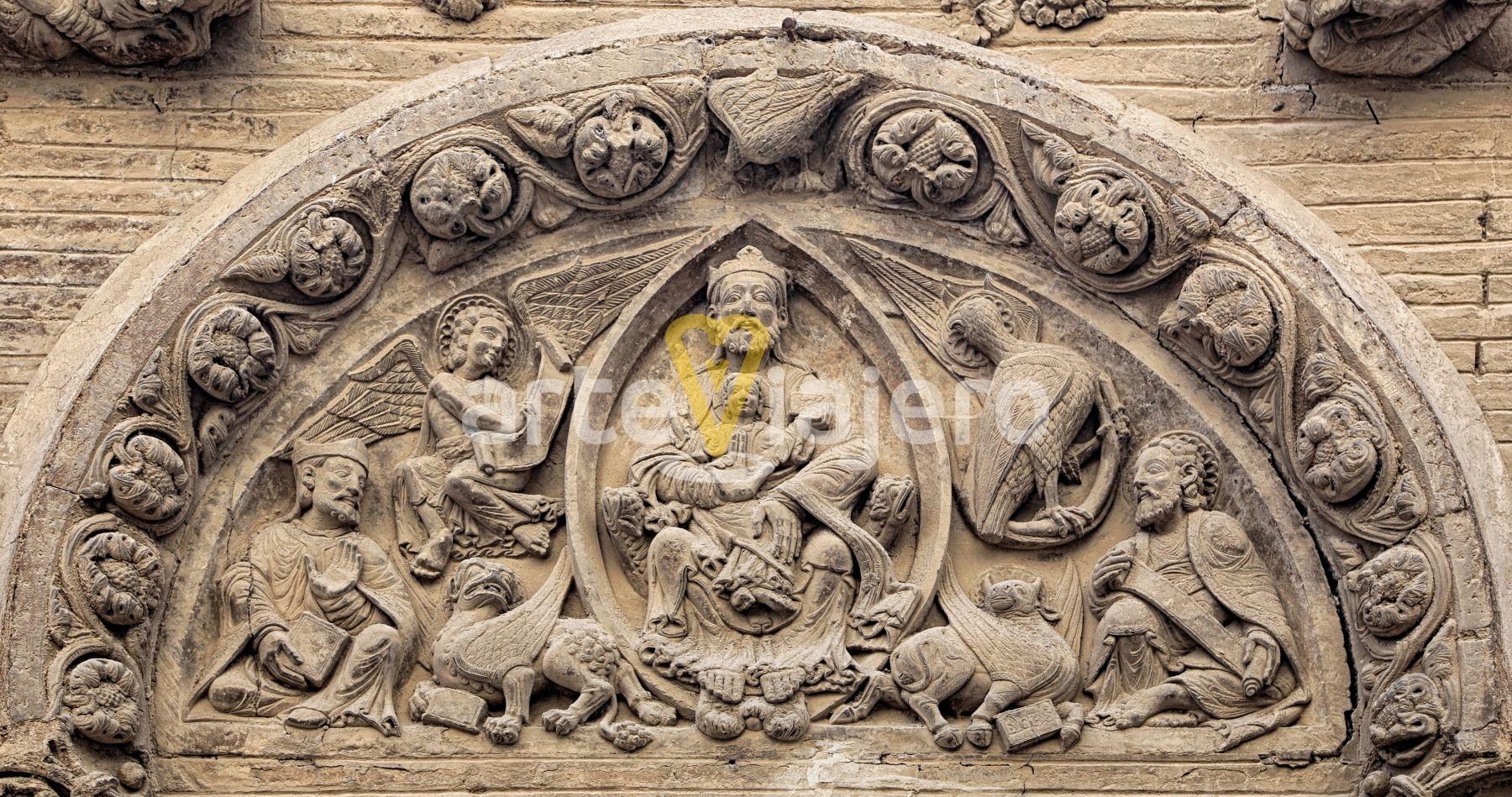 Trinidad Paternitas Tímpano Románico De La Iglesia De San Nicolás Tudela Navarra Arte Escultura Sculpture Art Ro Arte Romano Pintura Y Escultura Arte
