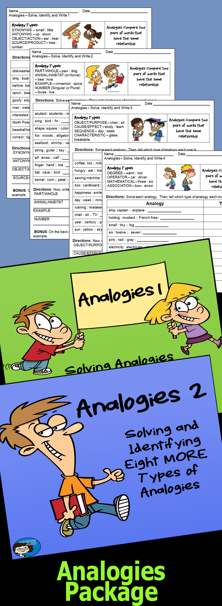 This Analogy Package Includes Two Presentations And The Set Of Ten Worksheets Plenty To Give Stude Vocabulary Activities Word Relationships Teaching Prefixes [ 2000 x 735 Pixel ]