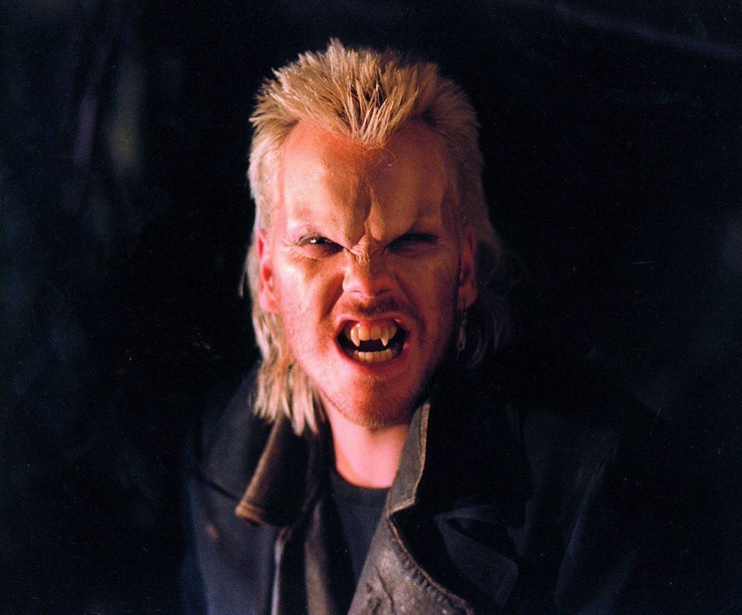 "Horror Nostalgia on Instagram: ""On set photo of Kiefer Sutherland in Vampire makeup for The Lost Boys (1987) • •… 