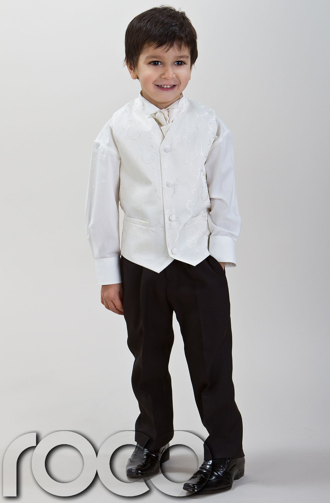 Boys Ivory Suit Wedding Pageboy Prom Waistcoat Suits Age 0