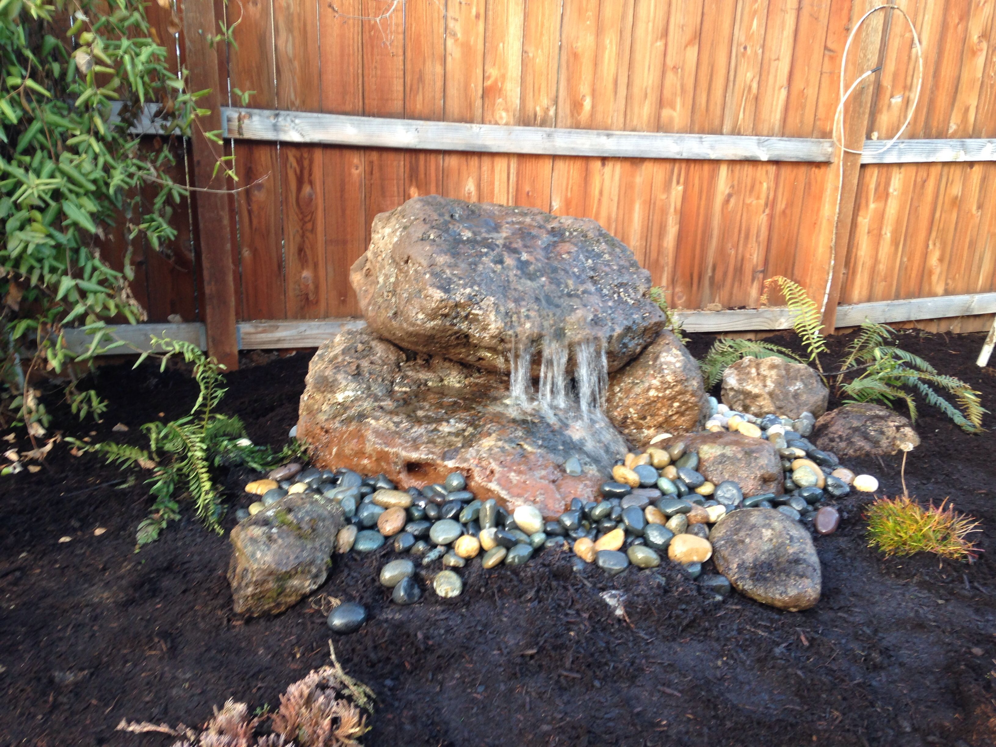 Home Patio Yard Ideas Water Features Rock Garden
