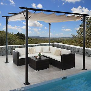 details zu 3x3 m pavillon garten pergola sonnenschutz terrassen berdachung sonnensegel mal. Black Bedroom Furniture Sets. Home Design Ideas