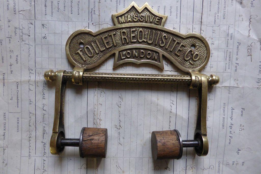 Wood Antique Toilet Roll Paper Holder