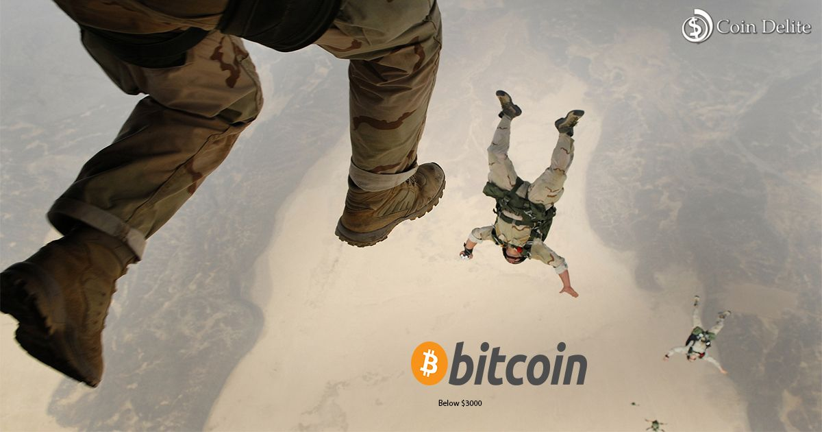 Bitcoins price to fall lower than 3000 to read more