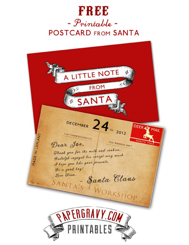 Free Christmas Post Card Printable Personalise Your Own Letter
