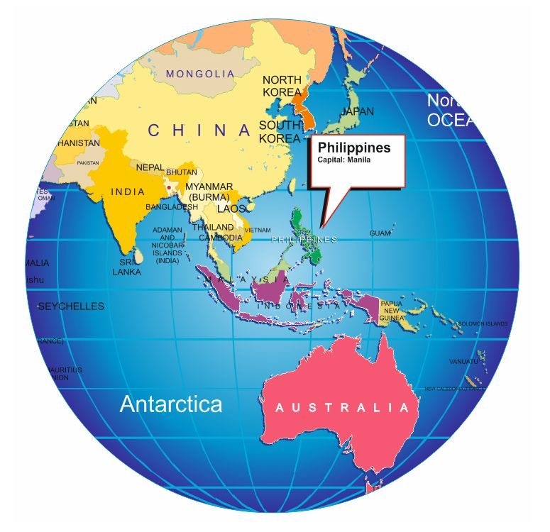 Where is Philippines on World lob | Maps and ... | Philippines ...