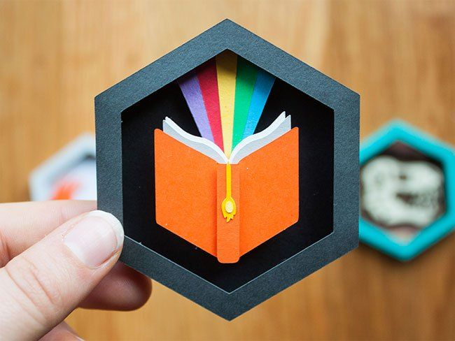 Paper Patch Shadow Boxes by Becky Margraf