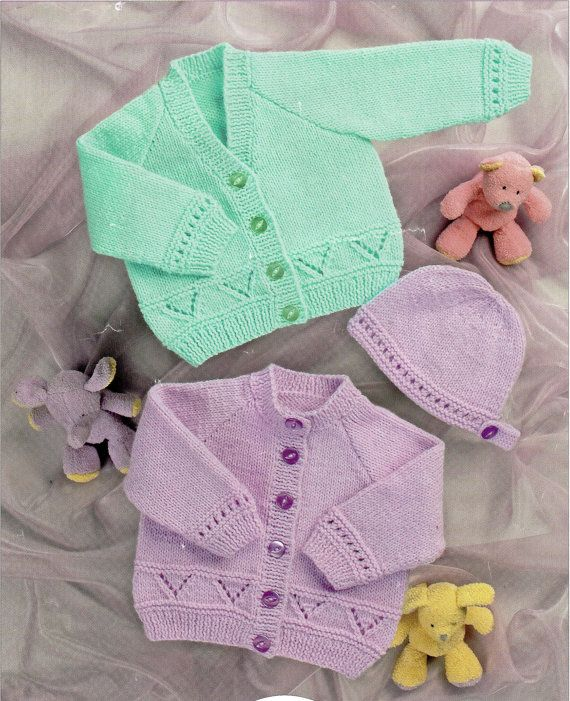 Baby Knitting Pattern Pdf Instant Download Baby Cardigans Baby
