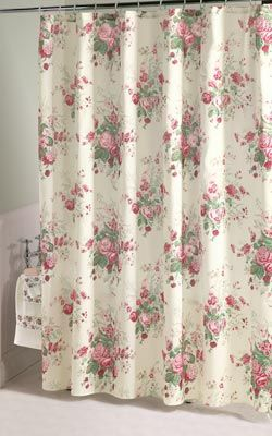 Rose Bath Shower Curtain From Collections Etc Curtain Patterns