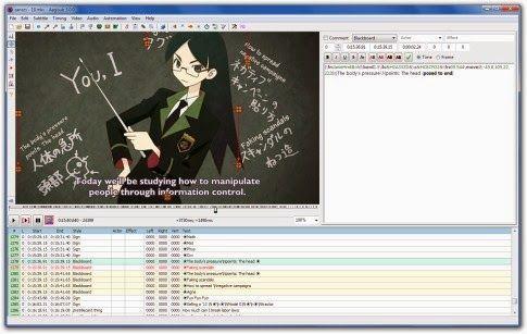 Aegisub - fast subtitle editor ~ Technotrickies