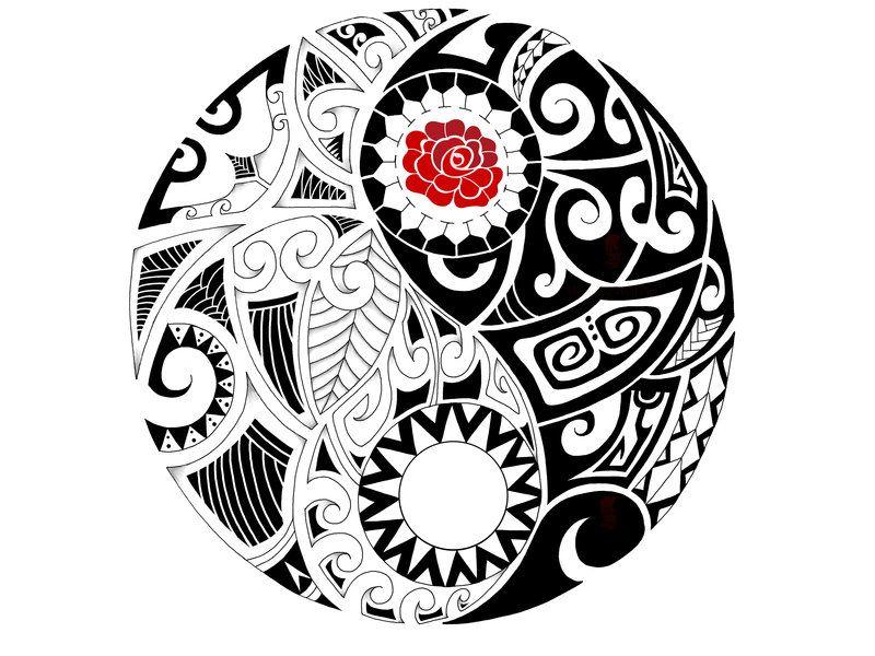Maori Yin-Yang commission by IkaikaDesign on deviantART | Ink ...