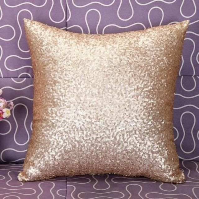 4aa37a4bc42e Solid Color Glitter Sequins Throw Pillow Case Home Decorative ...