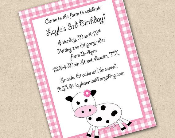 Gingham girl or boy farm invitation gingham farming and gingham girl or boy farm invitation stopboris Images