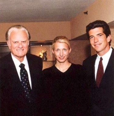 Carolyn and John with Billy Graham