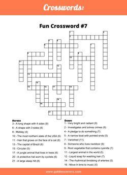 Fun Crossword 7 Elderly Care Activities For Dementia Patients