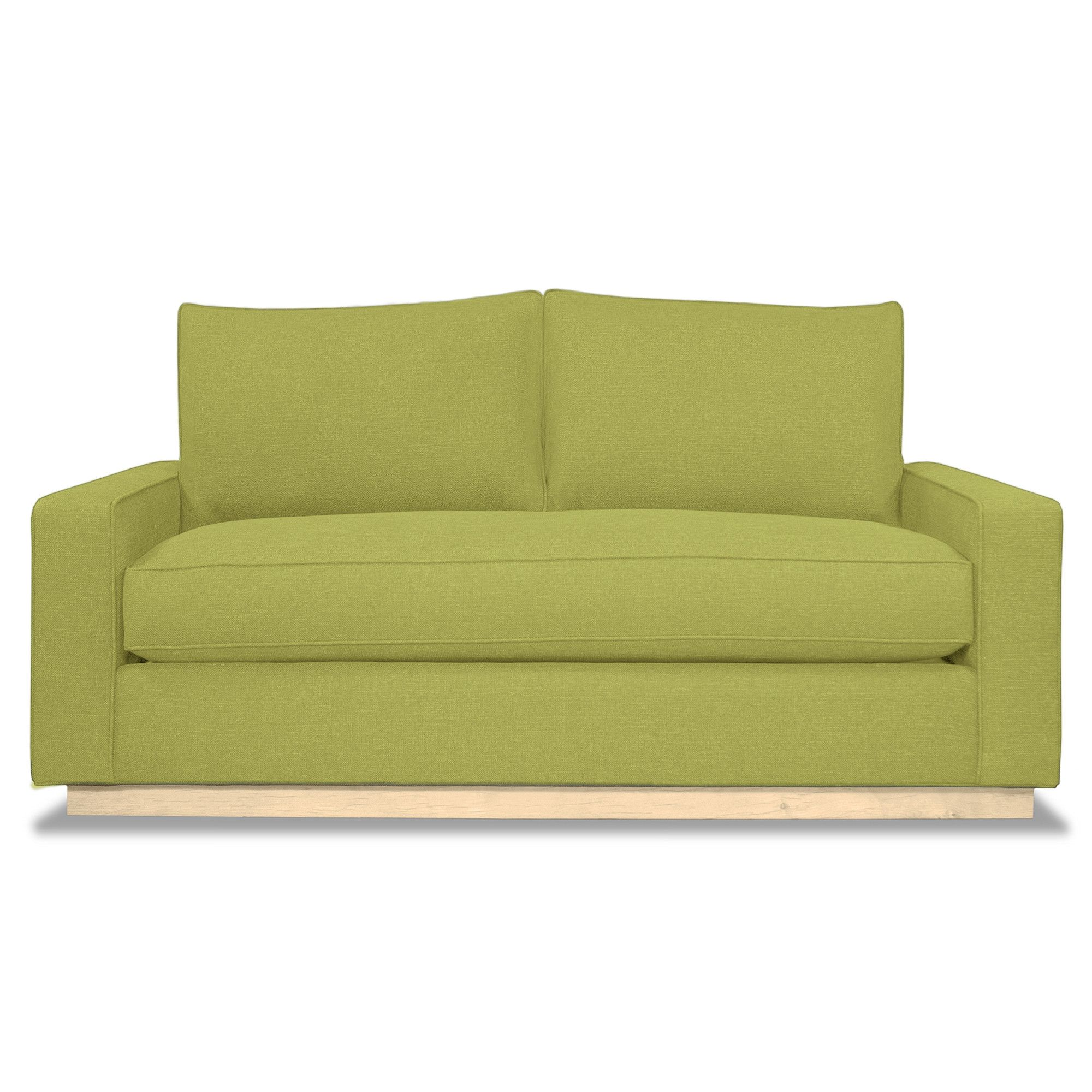 Harper Apartment Size Sofa NATURAL WOOD BASE- CHOICE OF