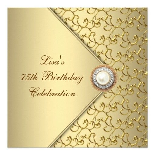 Elegant Gold Birthday Invitations for Women - Perfect for any formal - best of formal invitation card birthday
