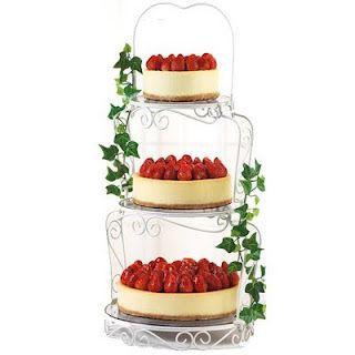 Cheesecake wedding cake!