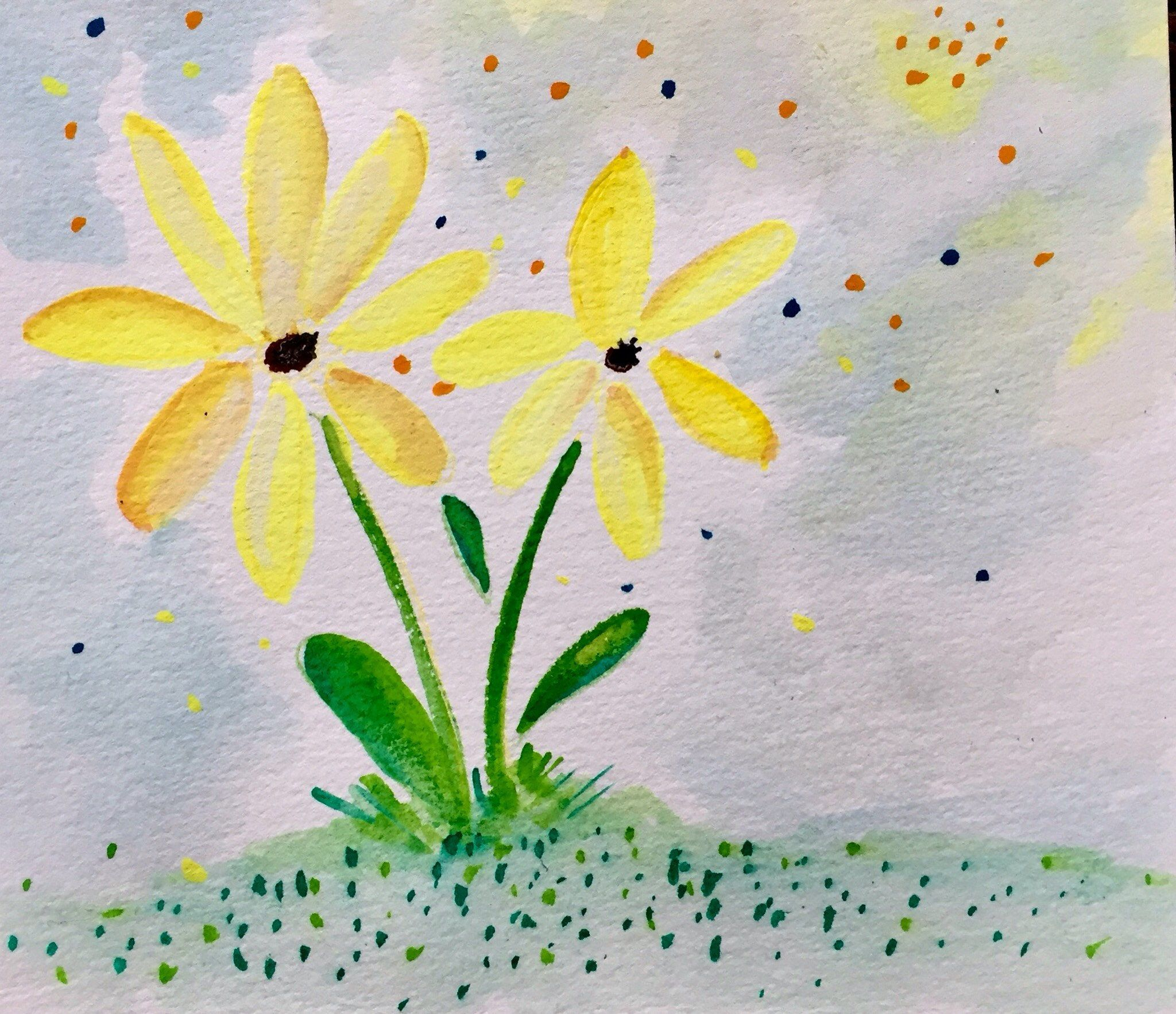 Just Dandy $12 Original Watercolor Painting; 5 x 5.5 Unframed ...