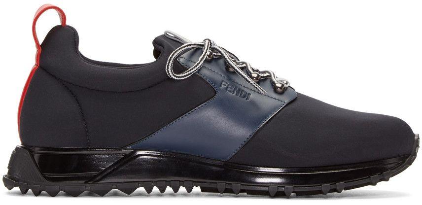 FENDI Black Neoprene Sneakers.  fendi  shoes  sneakers   Fendi Men ... 31e7e06b784