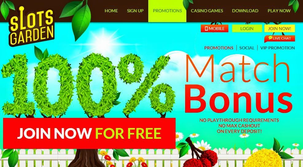 casino coupon codes new casino slots garden 100 unlimited no rules - Slots Garden Casino
