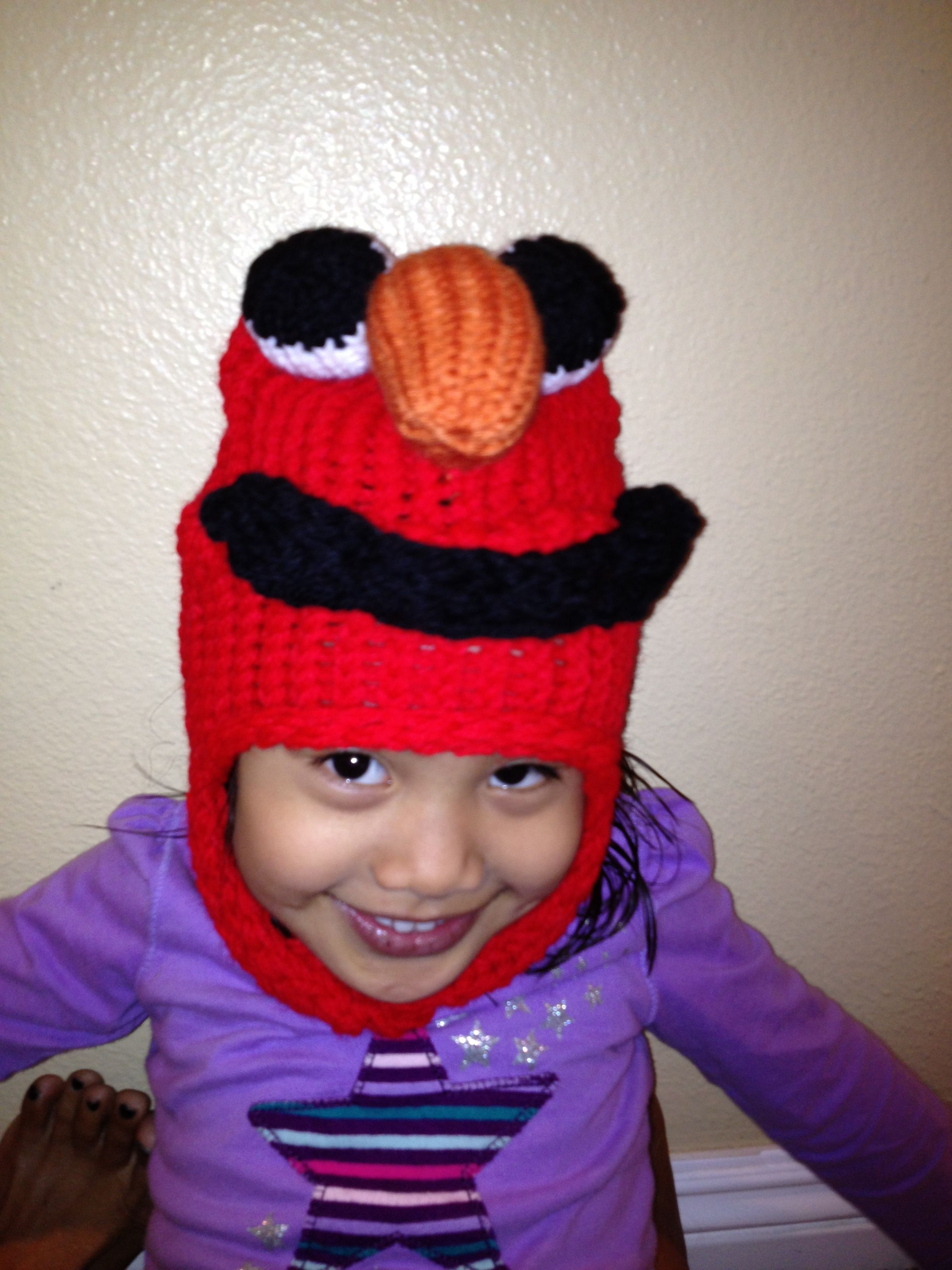 Terrifying elmo hat i wonder if i could use the pattern to make terrifying elmo hat i wonder if i could use the pattern to make another mister bankloansurffo Gallery