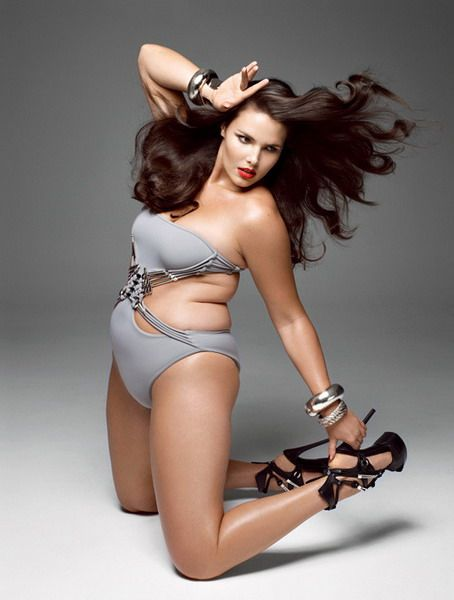 a6333ad69c Candice Huffine Sexy Women Plus Size Lingerie Underwear Models ...