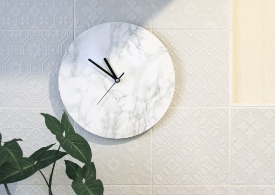 DIY: Minimalist Marble Clock by URBAN FOX DIY | Project | Home Decor / Decorative | Kollabora