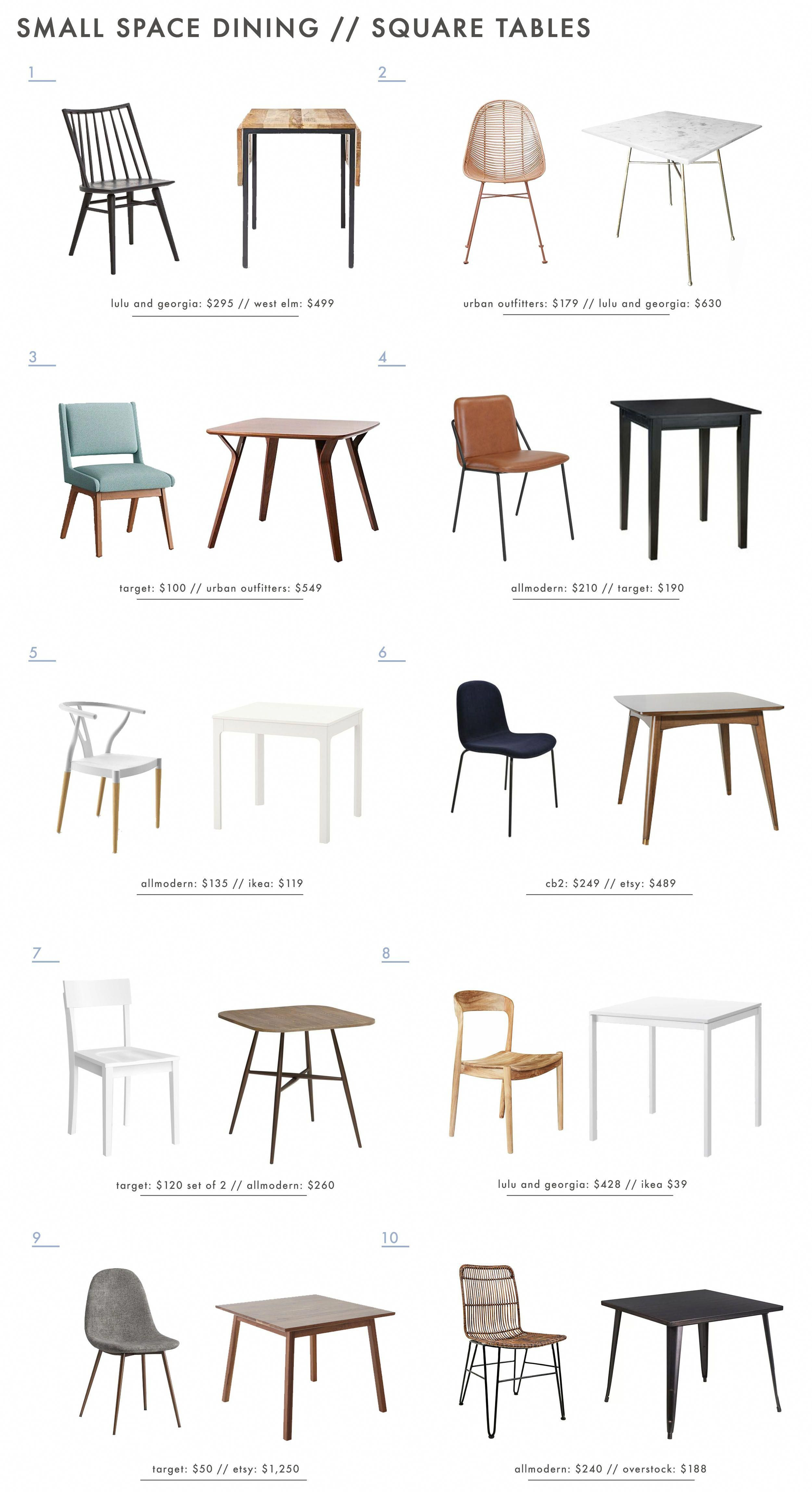 The Best Square Dining Table Chair Combos For Small Dining Spaces