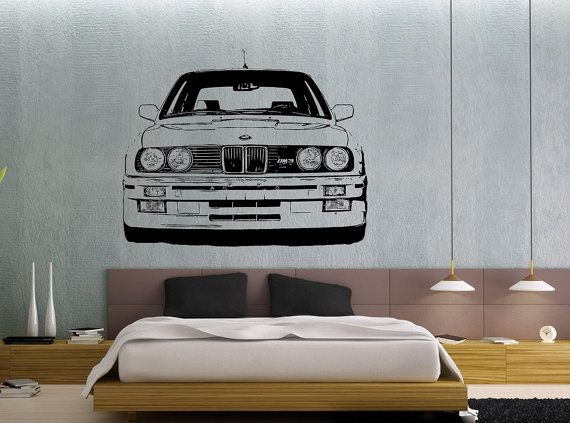 Bmw E30 M3 Wall Art Sticker Noah Bedroom E30 Bmw E30 M3 Bmw
