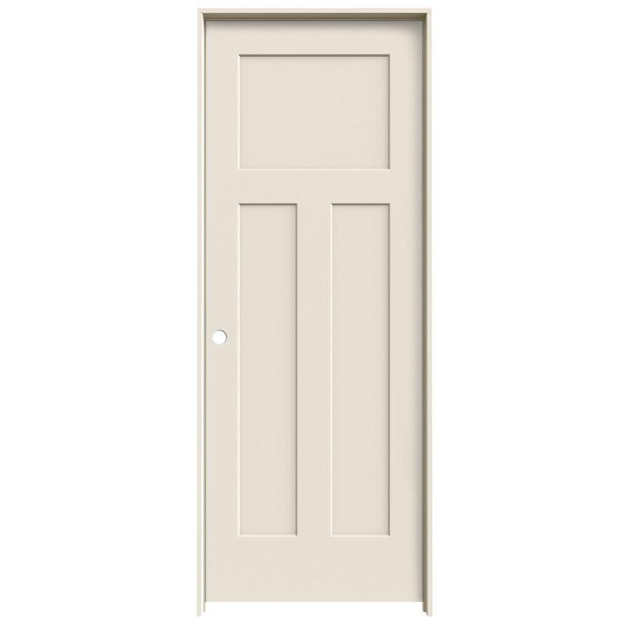 Shop Reliabilt 3 Panel Craftsman Solid Core Smooth Molded Composite Right Hand Interior Single Prehung Door Common 24 In X 80 In Actua Craftsman Interior Doors Hollow Core Interior Doors Doors