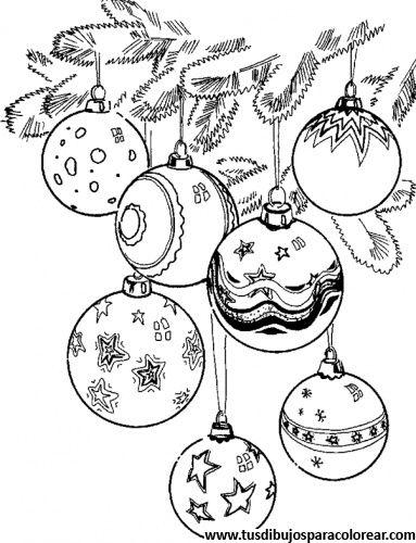 Dibujos Para Colorear De Bolas De Navidad Navidad Pinterest