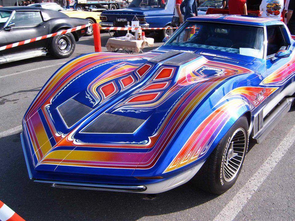 Mako Ii Corvette Custom Shark Fin Superb Corvette Custom Cars Paint Classic Cars